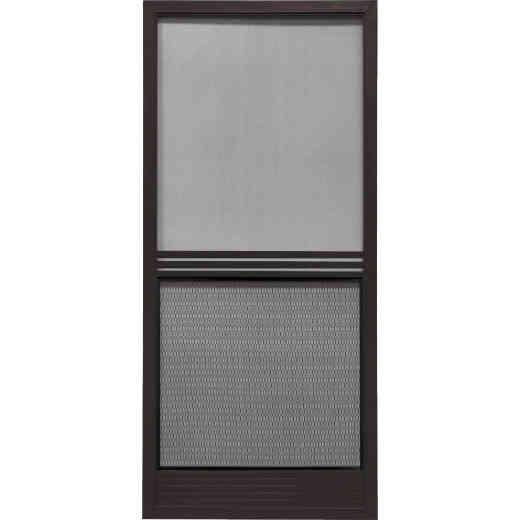 Precision Screen Provencial 36 In. W x 80 In. H x 7/8 In. Thick Bronze Steel Screen Door