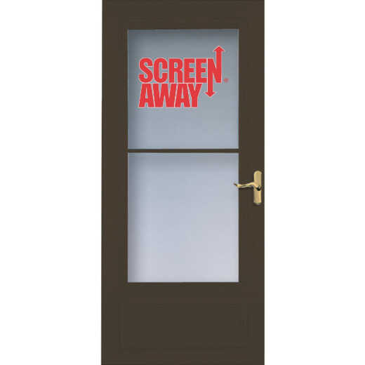 Larson Screenaway Lifestyle 36 In. W x 80 In. H x 1 In. Thick Brown Mid View DuraTech Storm Door