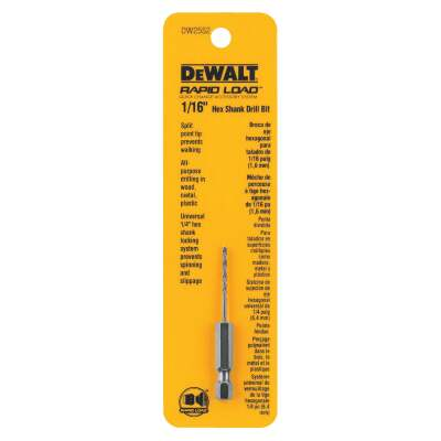 DeWalt Rapid Load 1/16 In. Black Oxide Hex Shank Drill Bit