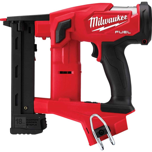 Milwaukee M18 FUEL 18 Volt Lithium-Ion 1/4 In. Narrow Crown Brushless Cordless Finish Stapler (Bare Tool)