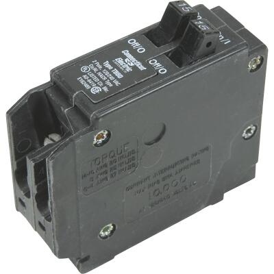 Connecticut Electric 15A/15A Twin Single-Pole Standard Trip Interchangeable Packaged Circuit Breaker