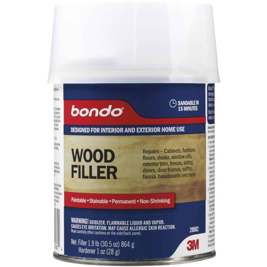3M Bondo 1 Qt. Brown Wood Filler w/Hardener