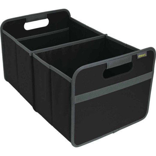 Meori 2-Compartment Lava Black Foldable Reusable Box
