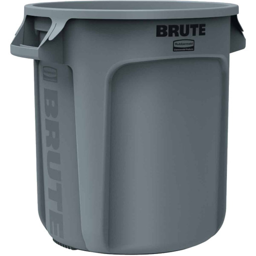 Rubbermaid Commercial Brute 10 Gal. Gray Vented Trash Can