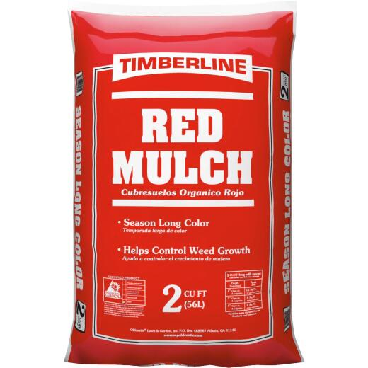 Timberline 2 Cu. Ft. Dyed Red Shredded Hardwood Mulch
