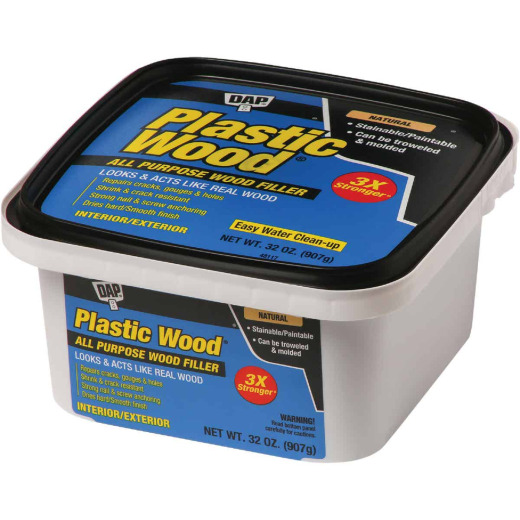 Dap Plastic Wood 32 Oz. Natural All Purpose Wood Filler