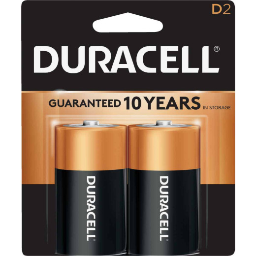 Duracell CopperTop D Alkaline Battery (2-Pack)