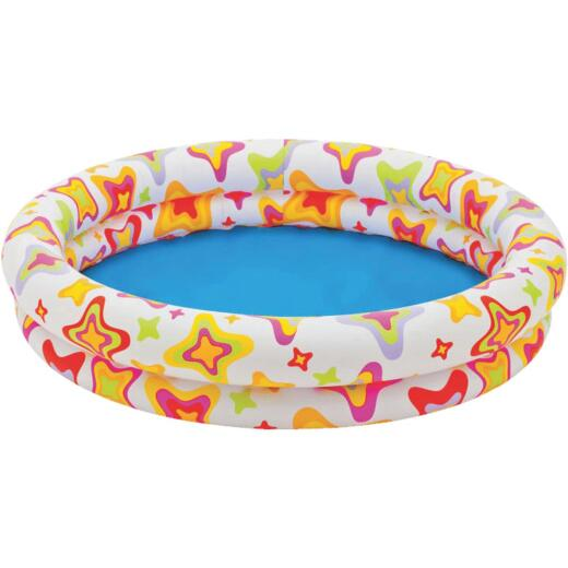 Intex 10 In. D. x 48 In. Dia. Multi-Colored Vinyl Inflatable Circle Fun Pool
